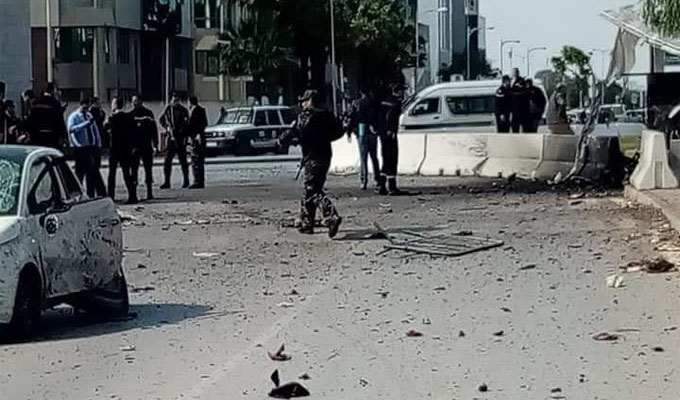 Explosion dans le quartier de l'ambassade américaine, plusieurs blessés — Tunis