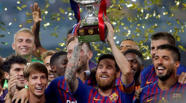 393030f48 FC Barcelona Win its 13th Spanish Super Cup in Tangier